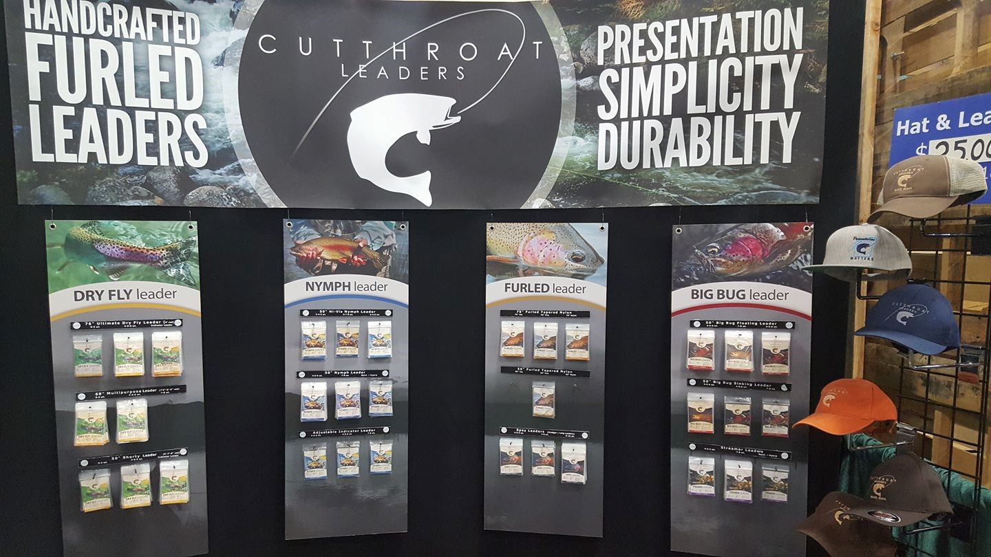 Cutthroat Leader booth at the Wasatch Fly Fishing Show 2017